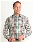 Casual Long Sleeve Blue, Red, Green and Yellow Check Shirt