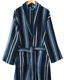 Striped Velour Cotton Gown