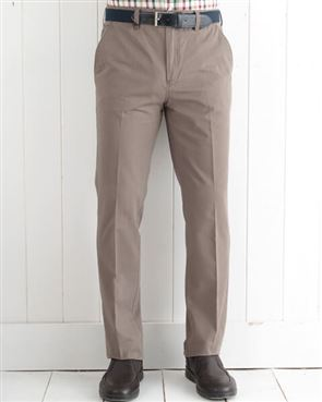 Pure Cotton Taupe Trousers