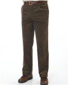 Mid Brown Needlecord Trousers - Mens