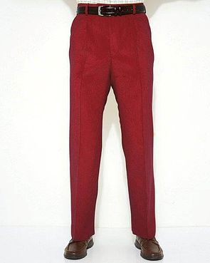 Needlecord Trousers - Mens - Berry