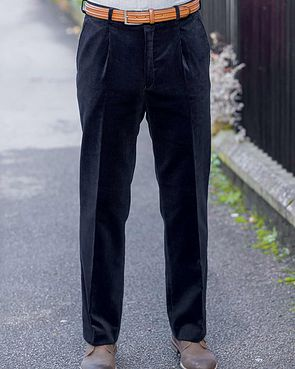 Needlecord Trousers - Mens - Navy
