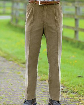 Needlecord Trousers  Mens - Pale Brown