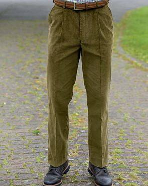 Needlecord Trousers - Mens - Sage