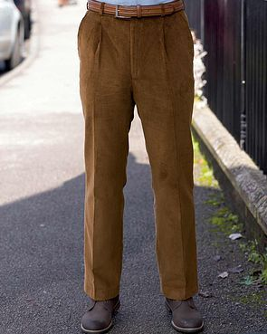 Needlecord Trousers  Mens - Tan