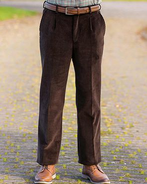 Corduroy Trousers  Mens - Dark Brown