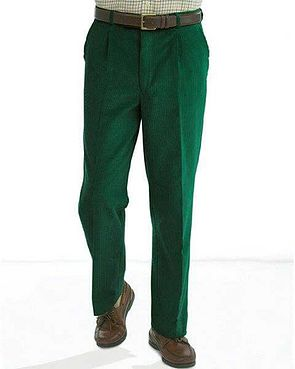 Corduroy Trousers  Mens - Green