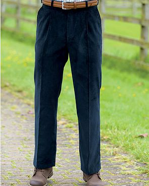 Corduroy Trousers  Mens - Navy