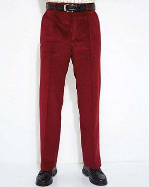 Corduroy Trousers  Mens - Red