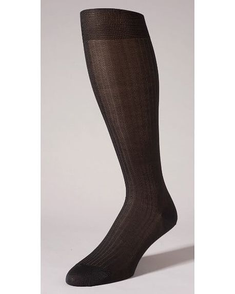 Pantherella Pure Cotton Knee Socks