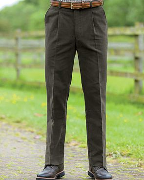 Moleskin Trousers  Mens - Dark Brown