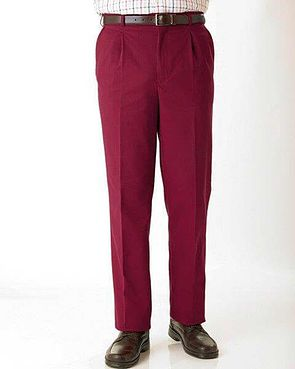 Cotton Chino Trousers  - Red