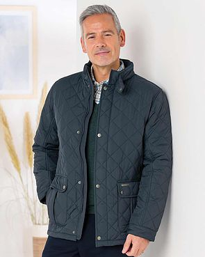 Men's Padstow Quilted Jacket - Navy