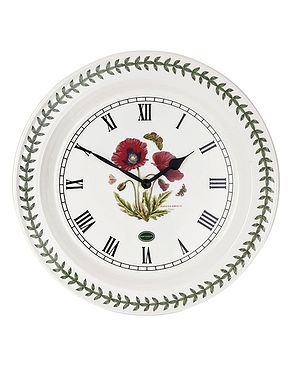 Portmeirion Poppy Wallclock
