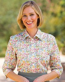 Colleen Floral Liberty Print Tana Lawn Blouse