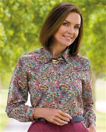 Leticia Patterned Silk Mix Blouse